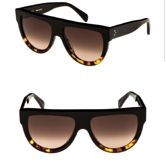 d0dbe574152 Celine Accessories - Celine flat top two tone sunglasses